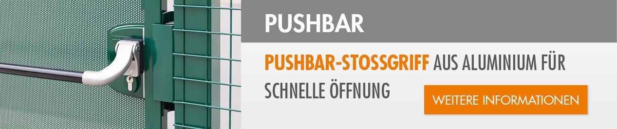 Pushbar-Stossgriff aus Aluminium
