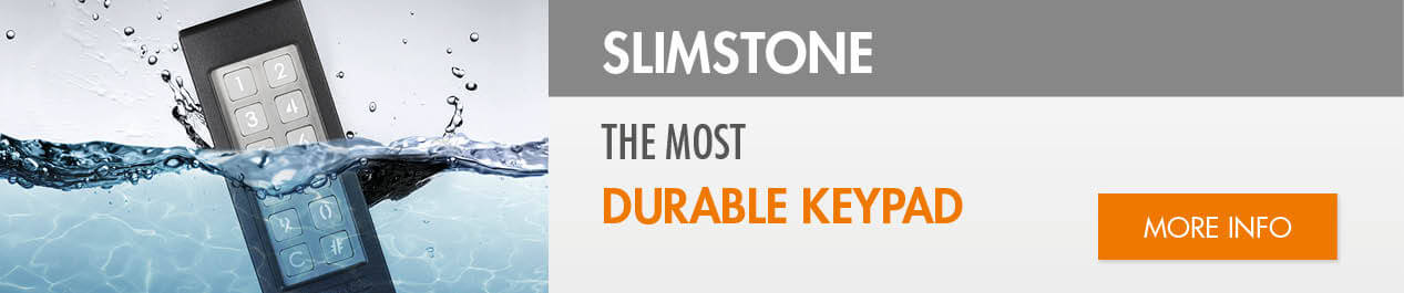 slimstone,Strong, frost-free and watertight keypad