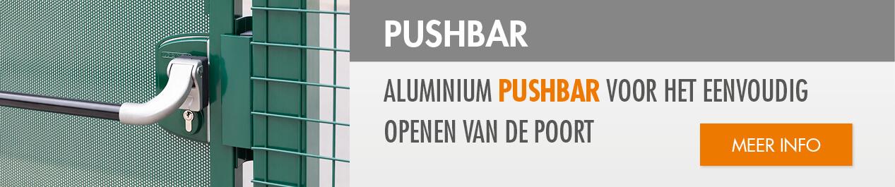Pushbar in aluminium
