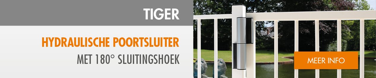 tiger, een Compact scharnier en hydraulische poortsluiter in één